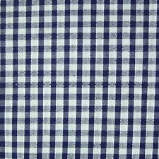 "Navy Blue & White 1/8"" Gingham Check Polycotton Fabric *Per Metre*"