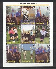 Mongolia 2002 FOOTBALL/Golf/ICE HOCKEY/HORSES 9v n15571