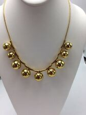 $148 Kate Spade Gold Tone Ring It Up Statement Necklace