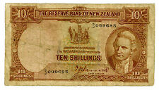 New Zealand … P-158a … 10 Shillings … ND … *VG*