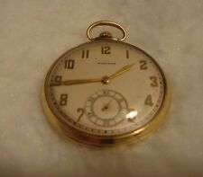 VTG. WALTHAM POCKET WATCH, 10K GOLD FILLED, 17J, WALTHAM CASE