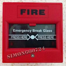 911 Fire and Emergency Glass Break Alarm Button Surveillance RED COLOR SS-TECH