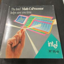 A80387DX, 387DX INTEL MATH CO-PROCESSOR 16 MHZ, PGA, GOLD, VINTAGE COLLECTABLE