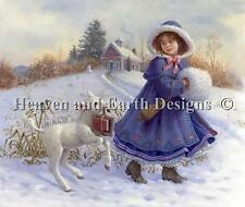 Mary and Her Lamb - HAED - Michele Sayetta/Ruth Sanderson Cross Stitch Chart New