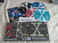 The X-Files PS1 (COMPLETE) rare FBI Sony PlayStation black label 4 disc set