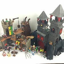 Huge Playmobil Knights Bundle 2 Castles Action Figures 3269 3123 Playsets
