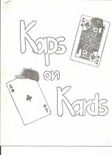 Fred Kaps Notes Kaps on Kards Vintage Lecture International Magician