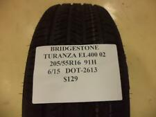 BRIDGESTONE TURANZA EL400 02 205 55 16 91H BRAND NEW TIRE 053916 NEEDS REPAIR