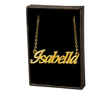 """Name Necklace """"ISABELLA"""" - 18ct Gold Plated - Wedding Engagement Jewellery Gifts"""
