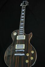 STUNNING EXOTIC LP STYLE ZEBRANO ZEBRA WOOD 6 STRING ARCH TOP ELECTRIC GUITAR