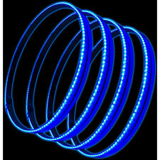 "Oracle 4215-002 15"" Blue LED Illuminated Wheel Rings Rim Light Kit w/ Switch"