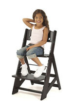 KEEKAROO HEIGHT RIGHT ADJUSTABLE WOODEN HIGH CHAIR BABY KIDS' - ESPRESSO - NEW