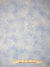 Christmas Fabric - Snowflakes Blue Silver White RJR 1557 Holiday Accents - Yard