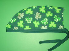 Surgical Scrub Hats/Cap St. Patrick's Day Assorted & mixed Shamrocks and clovers