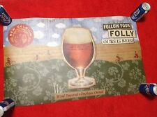 new belgium brewing  folly beer craft microbrew banner sign bar advertising