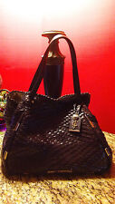 Juicy Couture Brown Woven Leather Tote