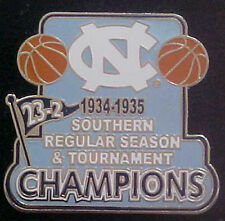 NORTH CAROLINA TAR HEELS 1934-35 SOUTHERN CHAMPS WILLABEE & WARD COMM SERIES PIN