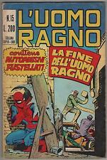 L' UOMO RAGNO corno # 15 LA FINE DELL' UOMO RAGNO  dr.strange black knight