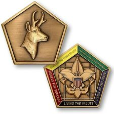 Antelope Wood Badge Medallion / Boy Scouts of America - BSA Challenge Coin