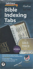 Tabbies Bible Indexing Tabs 90 Gold Edged Catholic Books Old & New Testament NEW