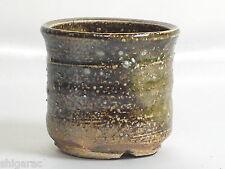 "Bonsai Pot Shigaraki Stoneware ""Mini Green  "" d7cm / Planter Gardening Japanese"