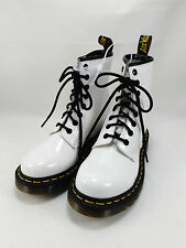 New DR MARTENS 1460 LADIES WHITE SMOOTH SHOES BOOTS ORIGINAL Size 5