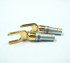 4, Double Screw Lock Nakamichi Speaker Spade Fork Plug