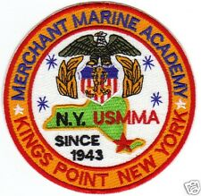 MERCHANT MARINE ACADEMY PATCH, KINGS POINT NEW YORK, SINCE 1943                Y