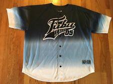 Fubu Sports Vintage Baseball Jersey 05 Athletic Hip Hop Men 2XL 3XL Blue Rap Big