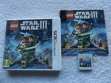 LEGO STAR WARS III 3 THE CLONE WARS NINTENDO 3DS V.G.C. FAST POST COMPLETE