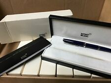 MontBlanc  Generation Med Fountain Pen FP Blue Silver Trim New in Box 14K Nib M