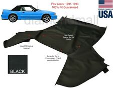 Ford mustang Convertible Soft Top Replacement 1991-1993 Top Only Black Pinpoint