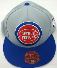 NBA Detroit Pistons Mitchell and Ness Two Tone Cap Hat  Vintage M&N TU92M NEW!!