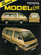 Toyota Model F Space Cruiser 1982-83 UK Market Preview Sales Brochure