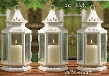 "12 White 10"" tall morrocan shabby candle holder lantern wedding table decoration"