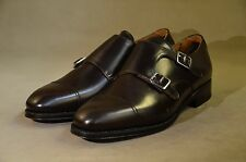 MEERMIN Mallorca Classic collection:goodyear welted cap toe double monk  8UK