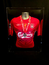 RARE LIVERPOOL CHAMPIONS LEAGUE FINAL SHIRT MEDAL DISPLAY GERRARD SMICER ALONSO