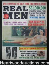 """Real Men"" June 1966 interior bondage,whipping, Good Girl art"