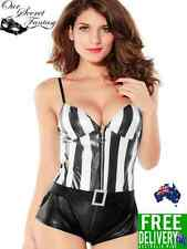 Pulse Racer Bedroom Referee Lingerie Jumpsuit Costume OS 8-12 (C2602)