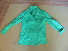 Ladies BEAUTIFUL GREEN LONG SLEEVE POLYCOTTON JACKET BY 66 - SIZE 12/14 - CHEAP