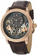 Stuhrling 368B 3345K54 Men's Gemini II Dual Open Heart Wheel R/T Automatic Watch