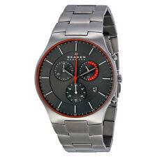 Skagen Balder Chronograph Grey Dial Titanium Mens Watch SKW6076
