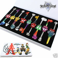 Kingdom Hearts 2 Sora Key Sword Cosplay Keychain Keyrings 9pcs set New in Box