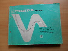 Parts catalogue de pieces Parts catalog Honda CX 500 E CM 1978 Workshop manual