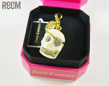 Juicy Couture Limited Edition Skull Pirate Gold Charm with box halloween