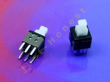 Stk. 2x MINI Schalter / Switch 6mm x 6mm LATCHING Mikroschalter THT PCB #A284