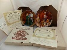 Lot of 2 Edwin Knowles China Collector Plates Gone With Wind Scarlett Melanie