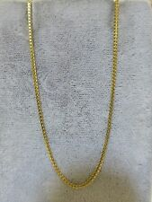 """Estate Italy signed MI 14k Yellow gold serpentine chain necklace 15.8"""" 4g"""