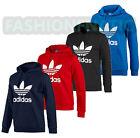 Adidas Originals Men's Iconic Trefoil Fleece Hooded Sweatshirt Hoodie (#9113)