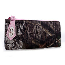MOSSY OAK CAMO ZIP WALLET WRISTLET - CAMOUFLAGE LADIES, WOMENS - PINK